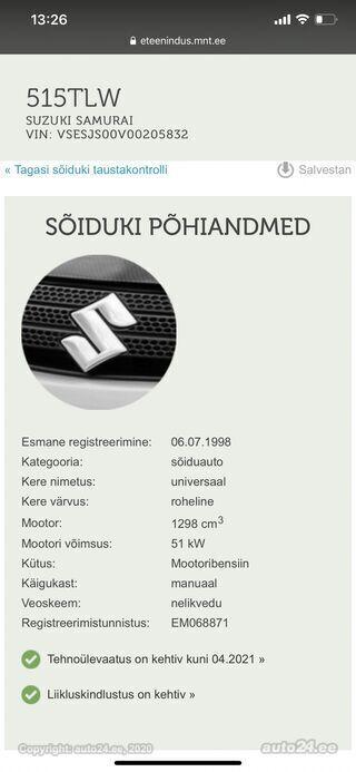 Suzuki Samurai 1.3 51kW