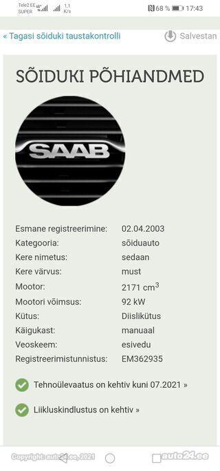 Saab 9-3 TrendLine 2.2 R4 TDi EcoTec 92kW