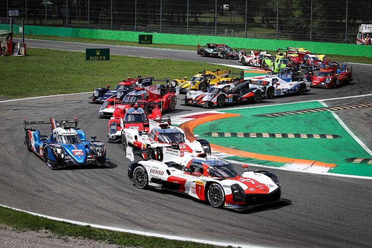 Monza etapi start. Foto: Toyota Gazoo Racing