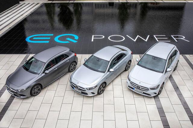 Mercedes-Benz A 250 e, A 250 e saloon, B 250 e. Foto: Daimler AG