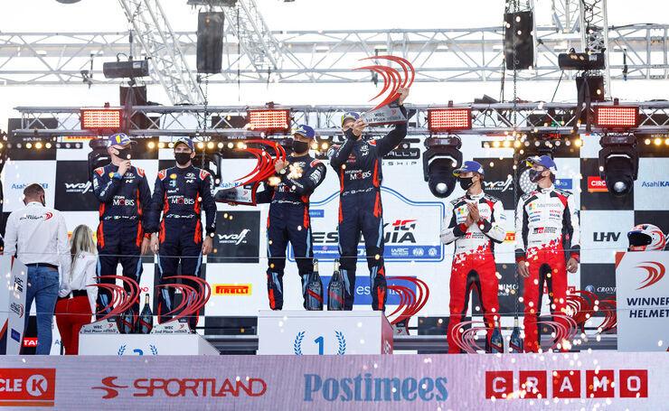 Rally Estonia 2020 poodium. Foto: Hyundai Motorsport