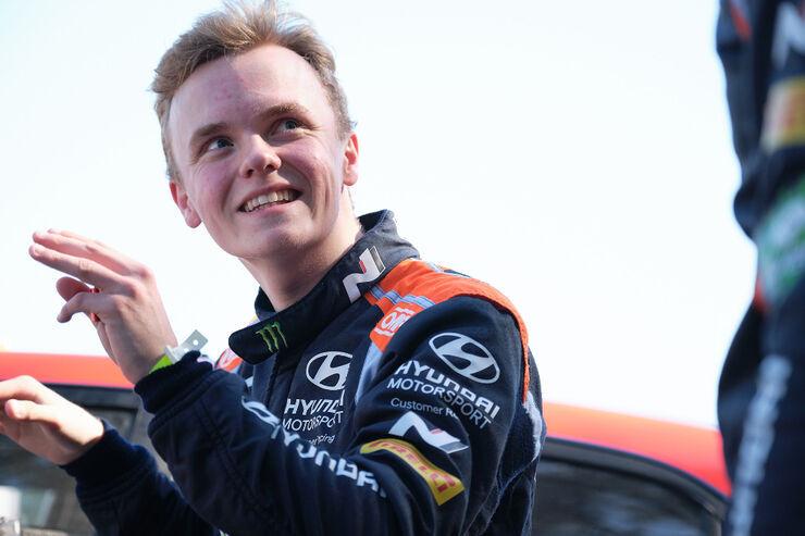 Oliver Solberg. Foto: Hyundai Motorsport