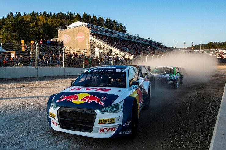 Kristoffersson juhtimas finaalsõitu Belgias. Foto: Jaanus Ree /Red Bull Content Pool