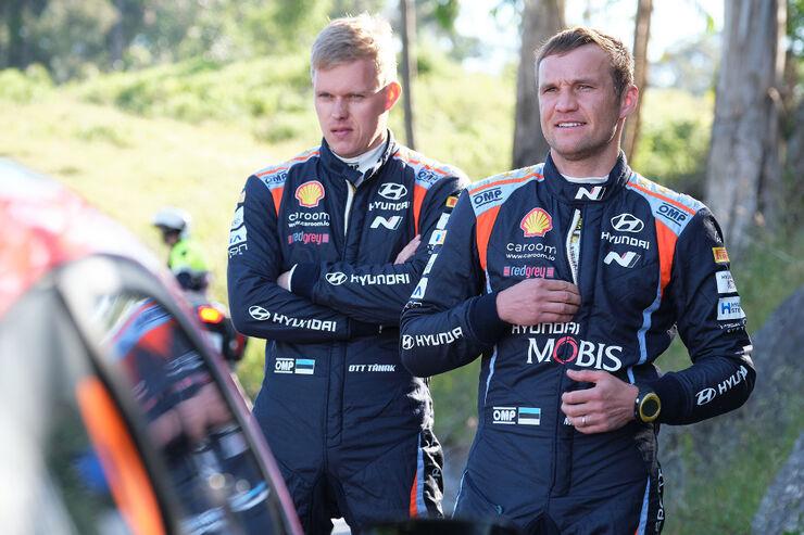 Ott Tänak ja Martin Järveoja. Foto: Hyundai Motorsport
