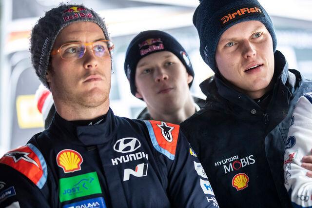 Thierry Neuville ja Ott Tänak. Foto: Hyundai Motorsport