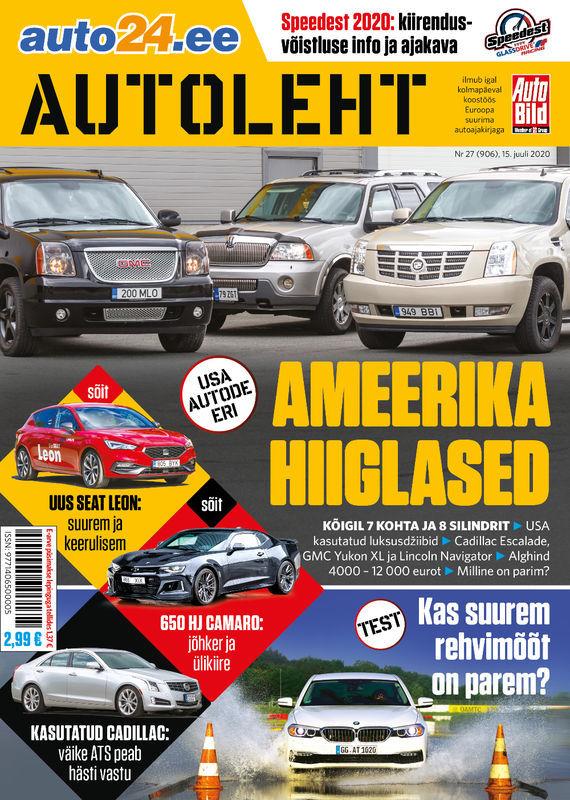 Autoleht, 15. juuli 2020