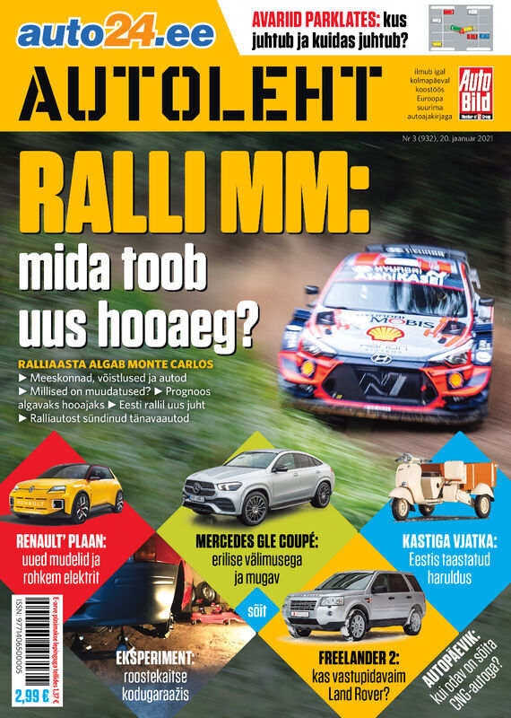 Autoleht, 20. jaanuar 2020